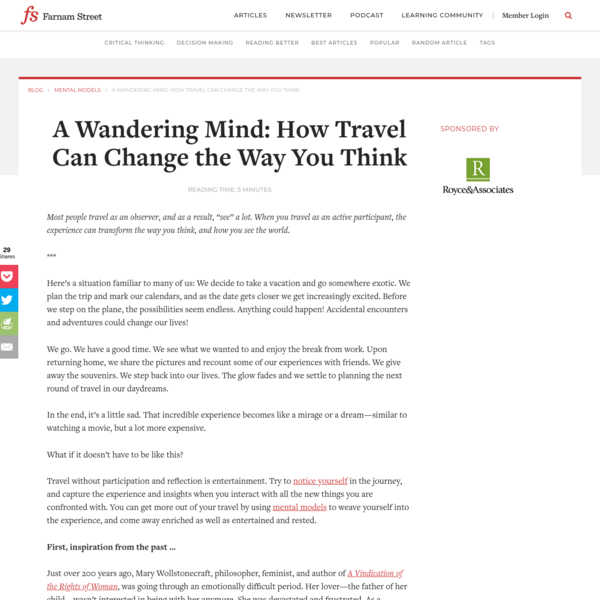 A Wandering Mind: How Travel Can Change the Way You Think