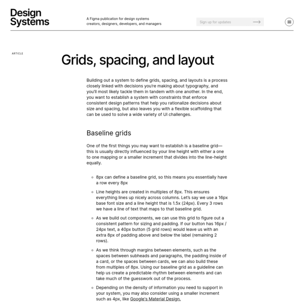 Design System Grid, Spacing and Layout Guide