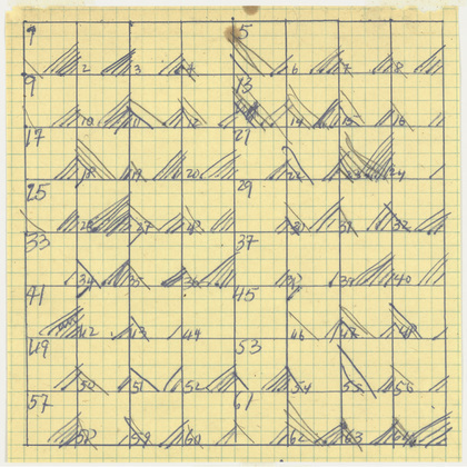 Merce Cunningham, Suite by Chance (Space Chart Entrance and Exit) (1952)