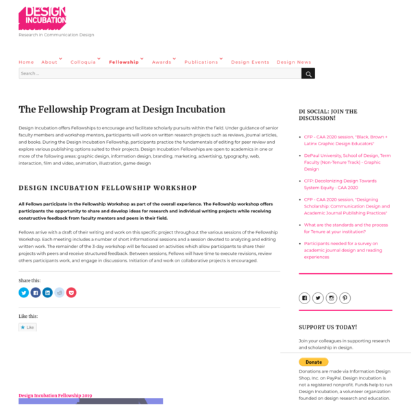 The Fellowship Program at Design Incubation