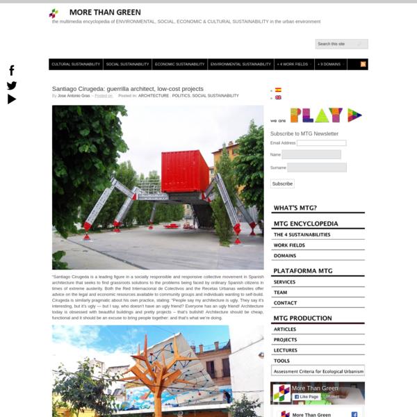 Santiago Cirugeda: guerrilla architect, low-cost projects