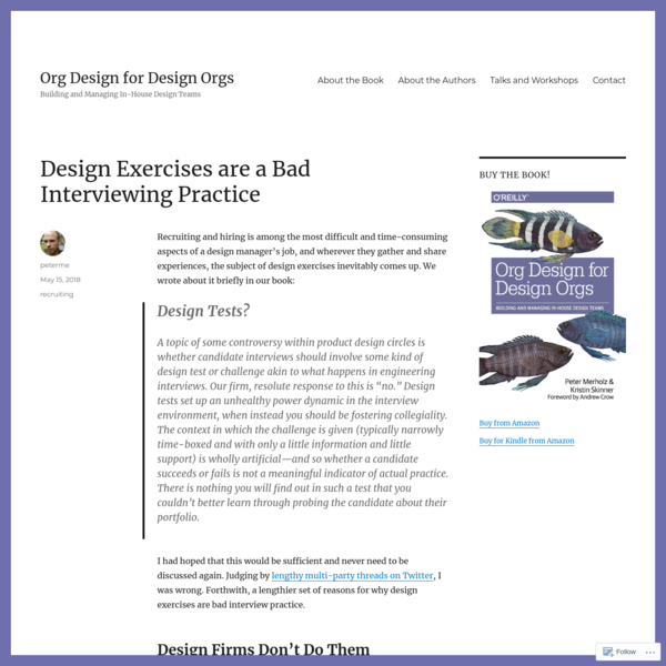 Design Exercises are a Bad Interviewing Practice