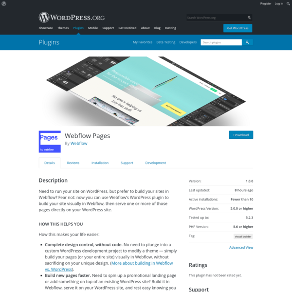 Webflow Pages