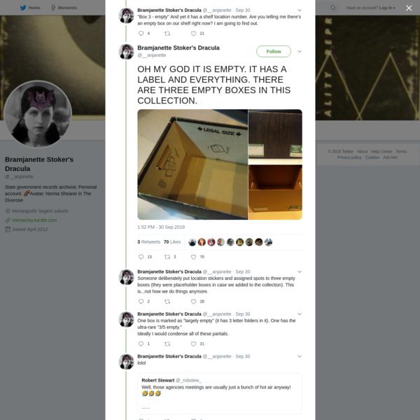 Bramjanette Stoker's Dracula on Twitter