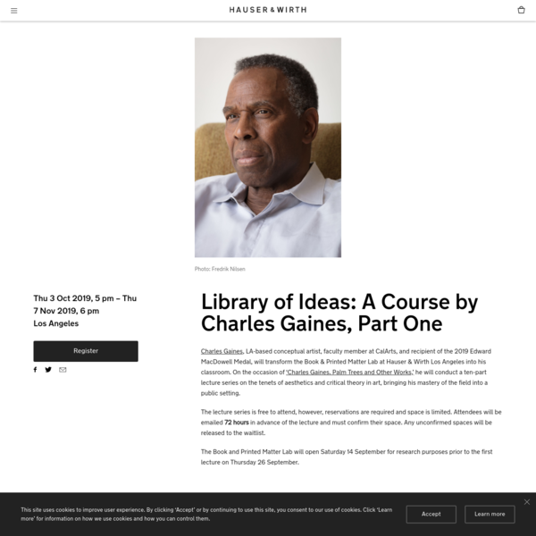 Library of Ideas: A Course by Charles Gaines, Part One