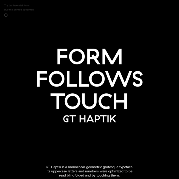 The New GT Haptik - Form Follows Touch
