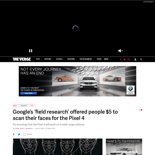 """Google's """"field research"""" offered people $5 to scan their faces for the Pixel 4"""