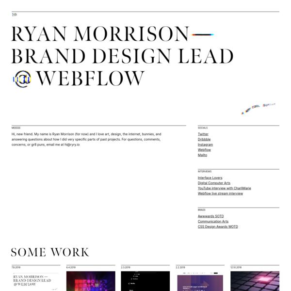 Ryan Morrison, Designer