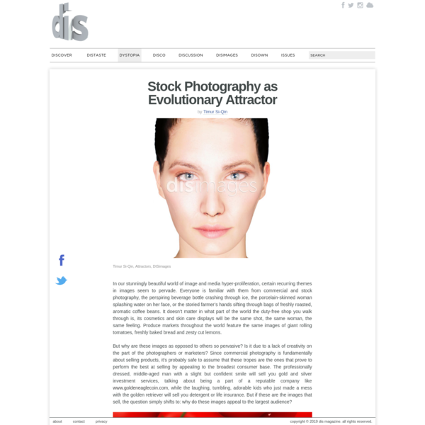 Stock Photography as Evolutionary Attractor