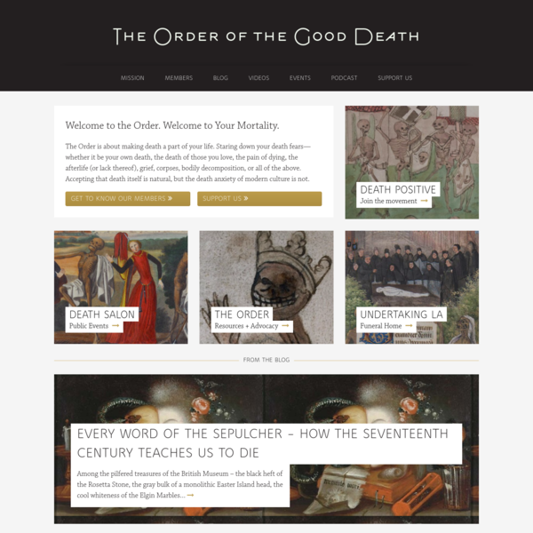 Home | The Order of the Good Death
