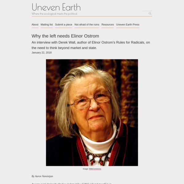 Why the left needs Elinor Ostrom