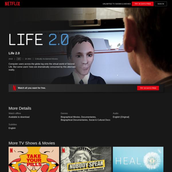 Life 2.0 | Netflix