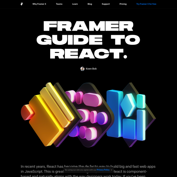 Framer Guide to React