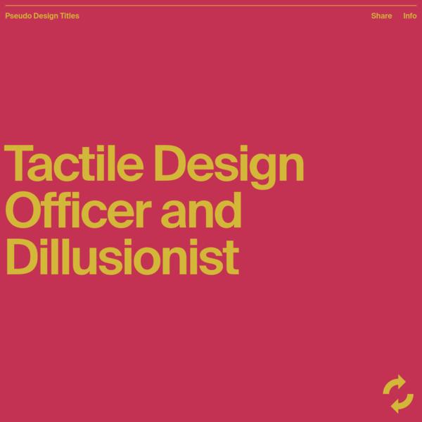Pseudo Design Titles