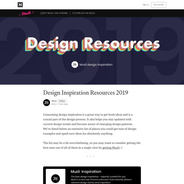 Design Inspiration Resources 2019