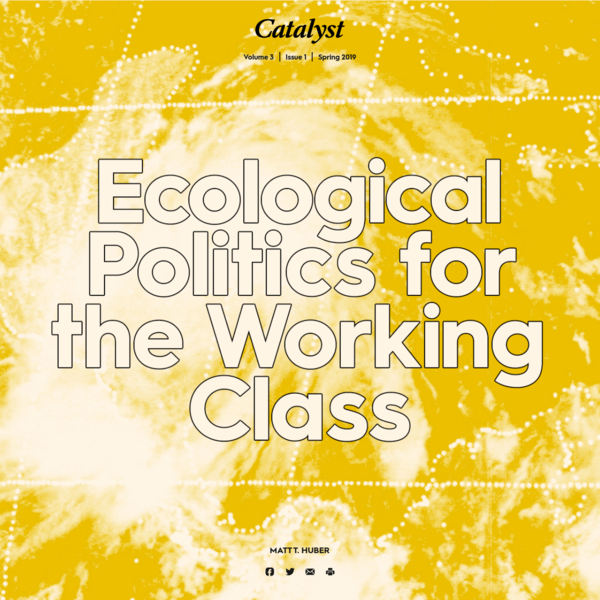 Ecological Politics for the Working Class