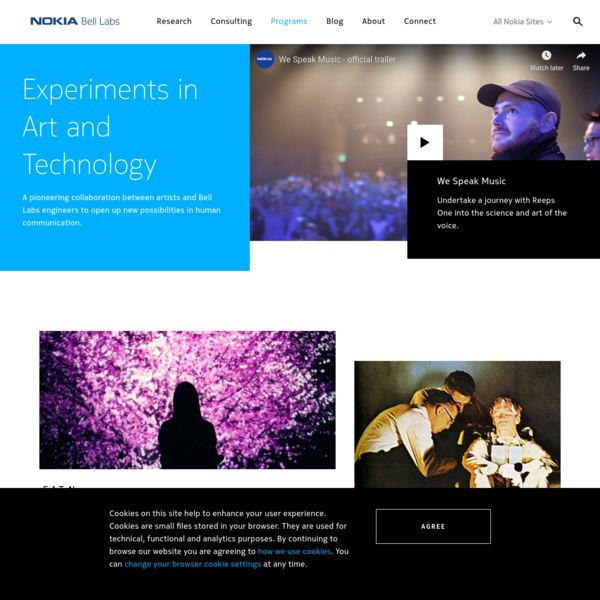 Nokia Bell Labs: Experiments in Art and Technology