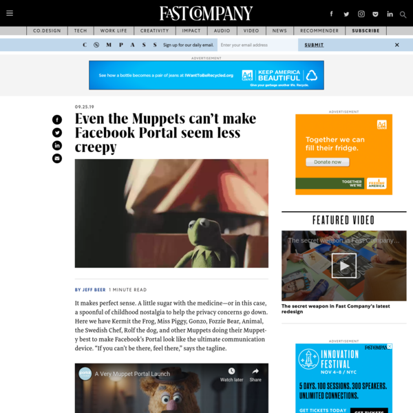 Even the Muppets can't make Facebook Portal seem less creepy
