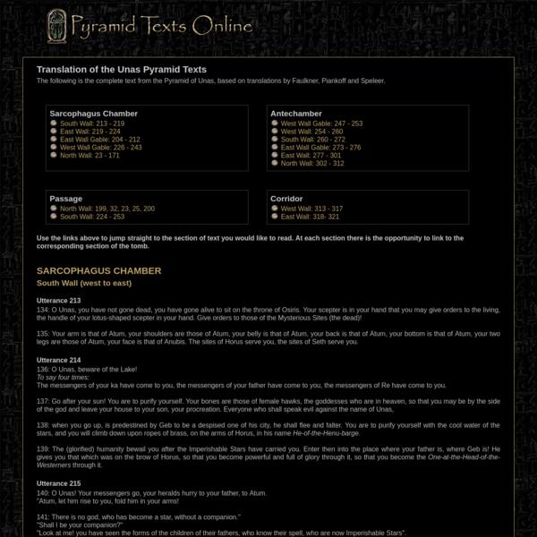 Pyramid Texts Online - English Translation