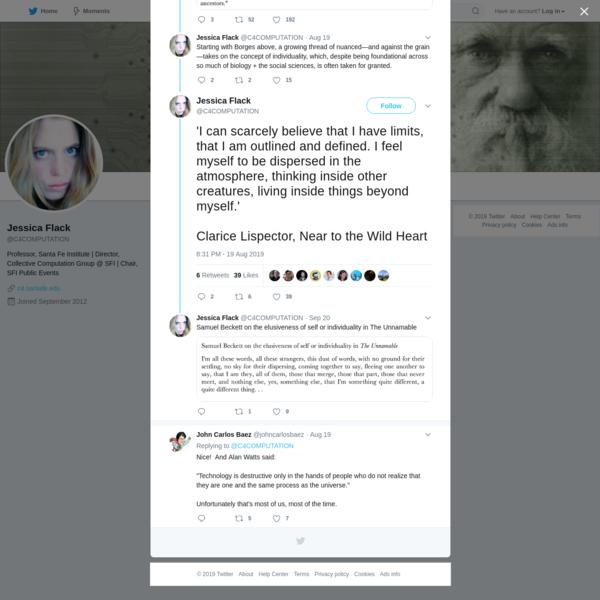 Jessica Flack on Twitter