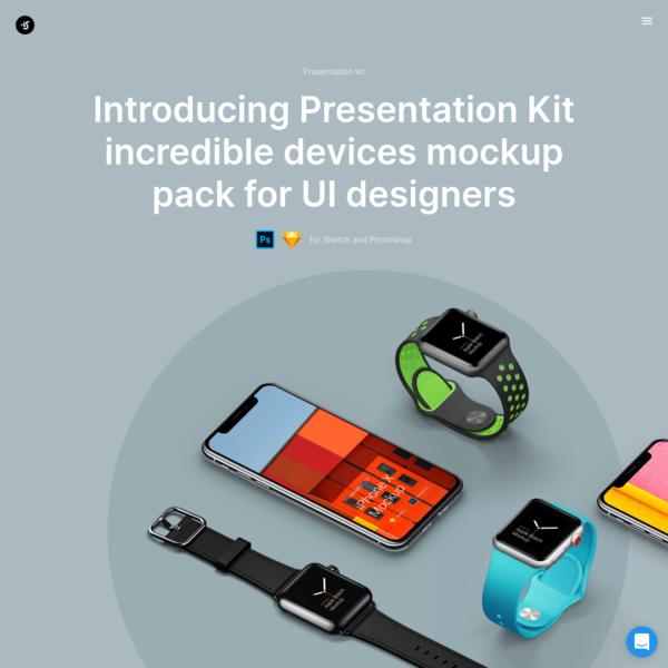 Presentation Kit Mockup Pack for UI Designers