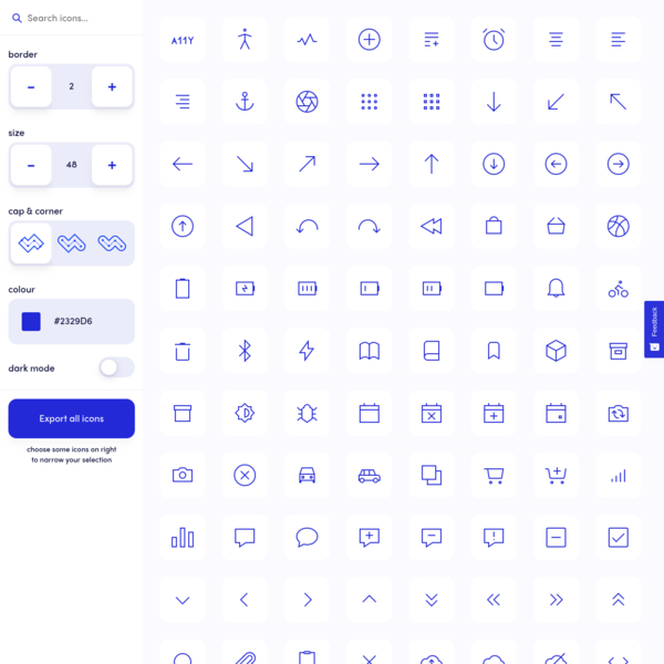 Ikonate - fully customisable & accessible vector icons