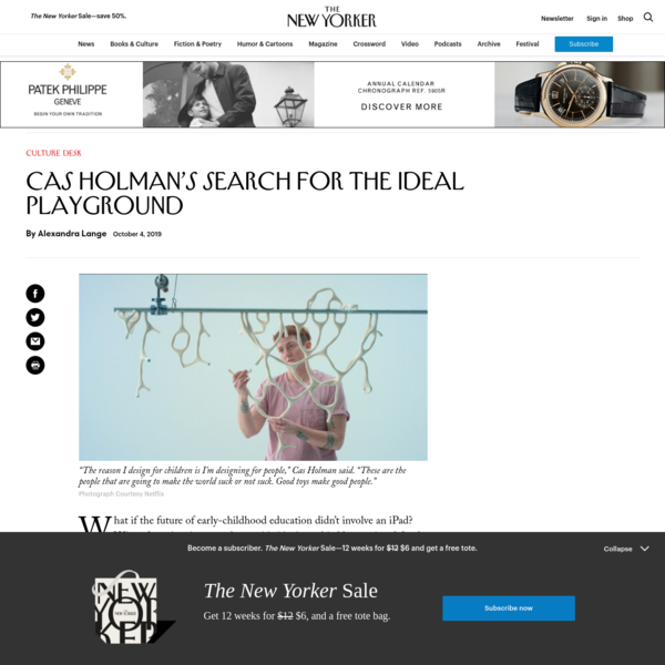 Cas Holman's Search for the Ideal Playground