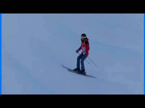 OLYMPICS 2018 Hungary Skier Goes Down Halfpipe with NO Tricks !!!