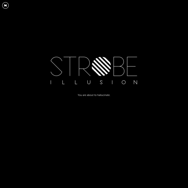 Strobe Illusion - Hallucinate with this amazing optical illusion!