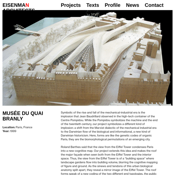 Musée du quai Branly 1999 - EISENMAN ARCHITECTS