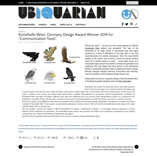 "Kunsthalle Wien, Germany Design Award Winner 2014 for ""Communication Tools"""