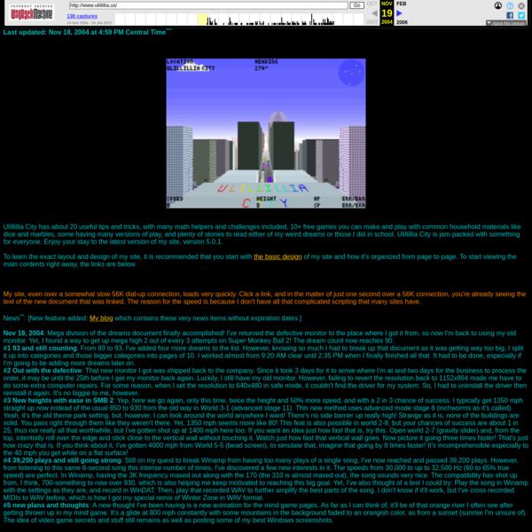 Listing categories, Ulillillia's Home Page Version 5.0.2
