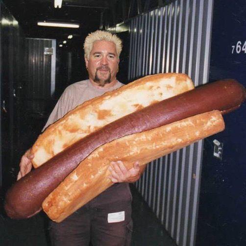 Guy Fieri large hotdog