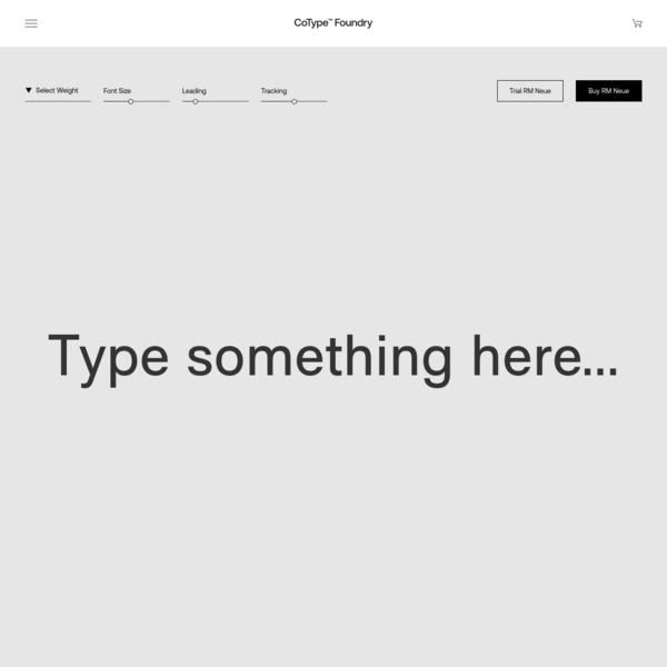 RM Neue - CoType Foundry