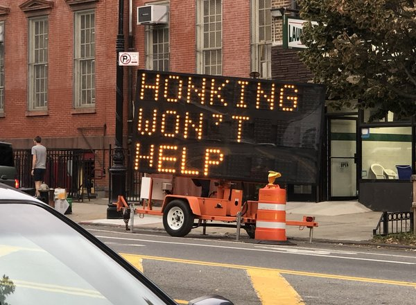 Honking won't help
