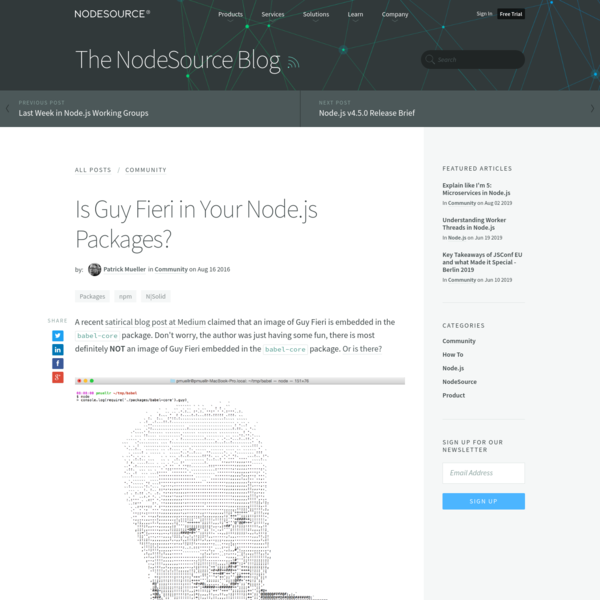 Is Guy Fieri in Your Node.js Packages?