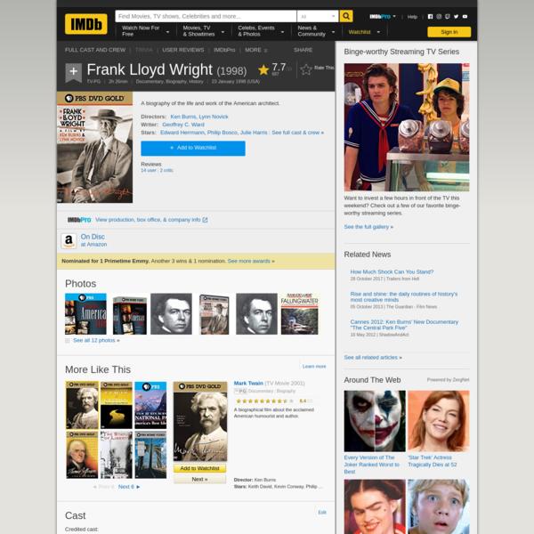 Frank Lloyd Wright (1998) - IMDb
