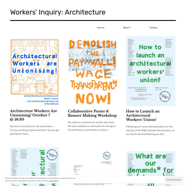 Workers' Inquiry: Architecture