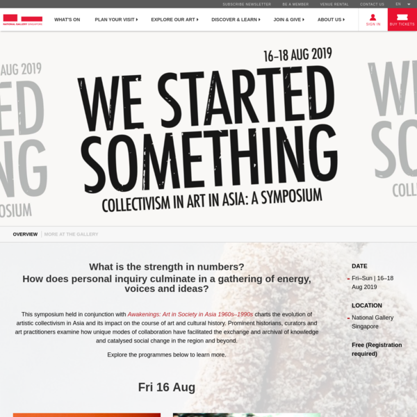 WE STARTED SOMETHING - Collectivism in Art in Asia: A Symposium | National Gallery Singapore