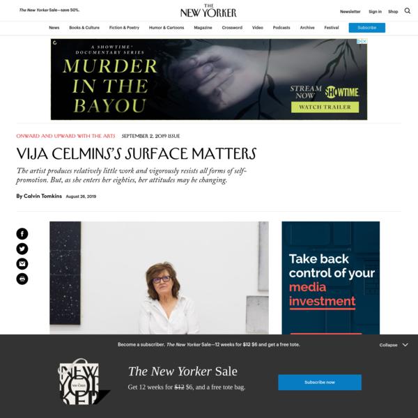 Vija Celmins's Surface Matters | The New Yorker