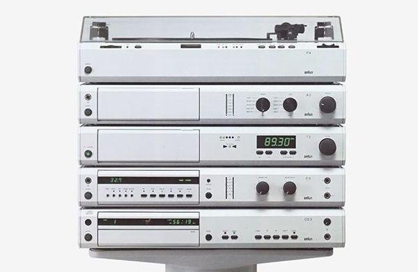 Dieter Rams & Peter Hartwein / Braun / P4, A2, T2, C3 & CD3 / Audio System / 1980 - 1989 - #dieterrams #peterhartwein #braun...