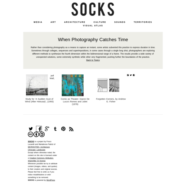 Topics - When Photography Catches Time