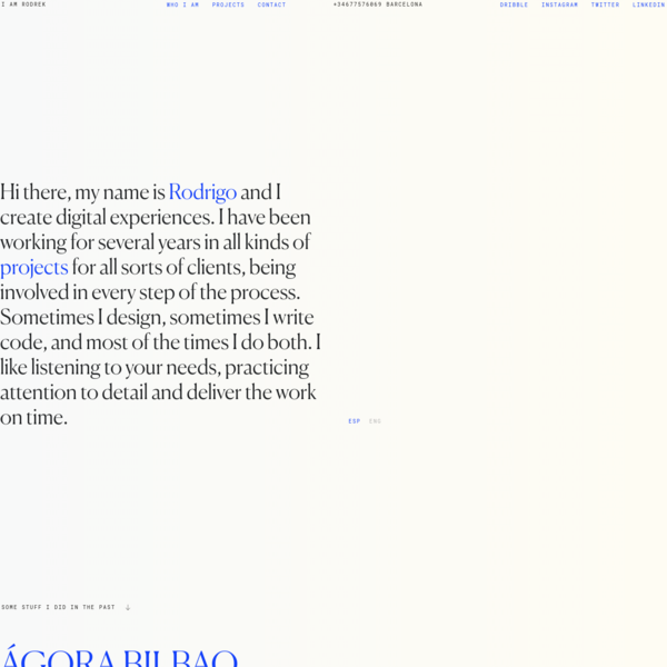 Rodrigo Núñez - Diseñador Web Freelance - Desarrollador Front-End