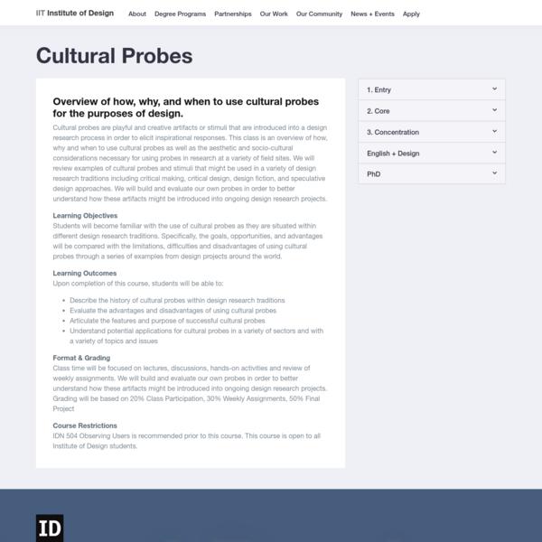 Cultural Probes - IIT Institute of Design