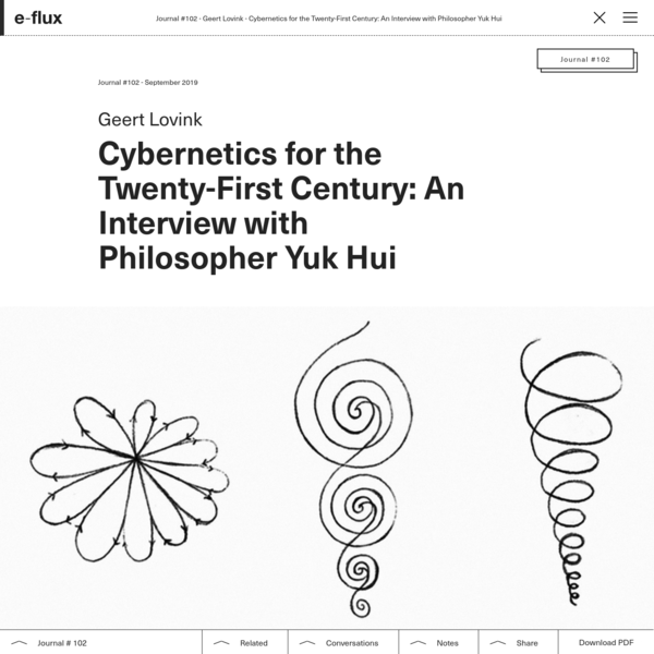 Cybernetics for the Twenty-First Century: An Interview with Philosopher Yuk Hui