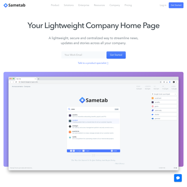 Sametab | The fastest way to keep everyone on the same page