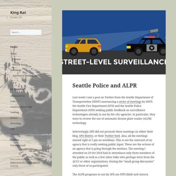 Seattle Police and ALPR