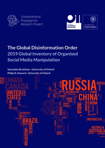 The Global Disinformation Order: 2019 Global Inventory of Organised Social Media Manipulation