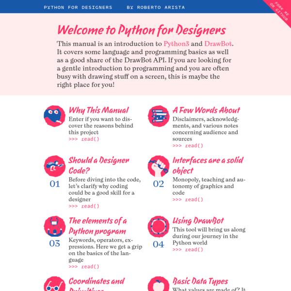 Welcome! | Python for Designers