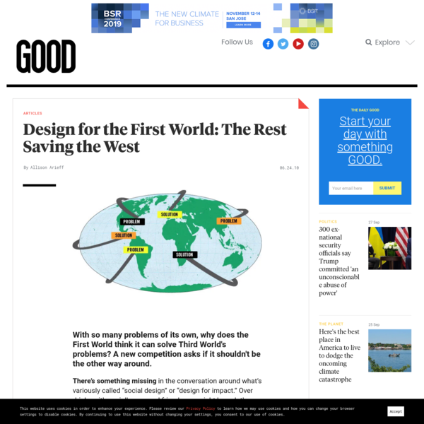 Design for the First World: The Rest Saving the West